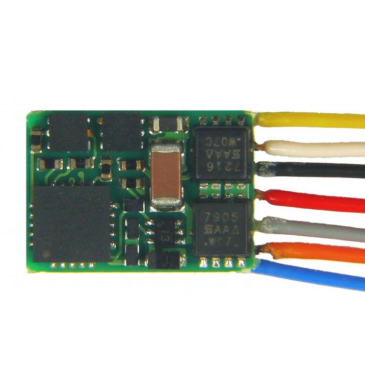 Dekoder jazdy i oświetlenia Zimo MX621 DCC 7-kabli