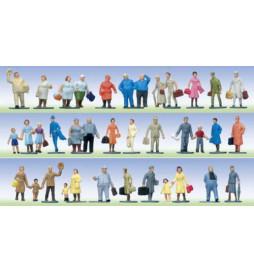 Podróżni (36 figurek) - Faller 155250