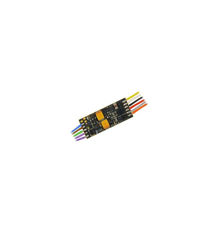 NOWOŚĆ: Miniaturowy dekoder jazdy i dźwięku Zimo MX649 (1W) DCC 11-kabli