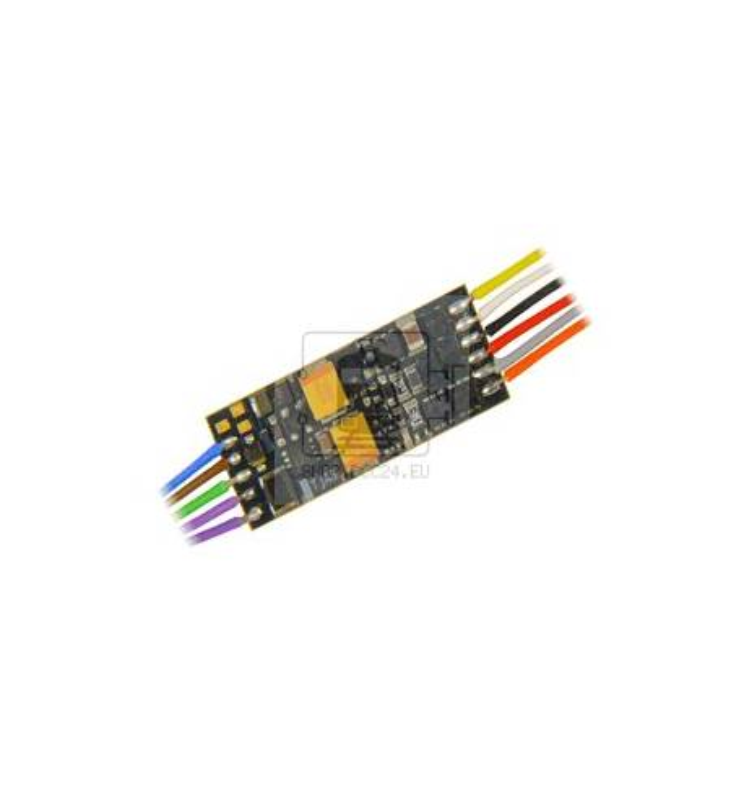 Nowość ! Miniaturowy dekoder jazdy i dźwięku Zimo MX649R (1W) DCC NEM652 8-pin z przewodami