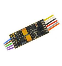 Nowość ! Miniaturowy dekoder jazdy i dźwięku Zimo MX649F (1W) DCC NEM651 6-pin z przewodami