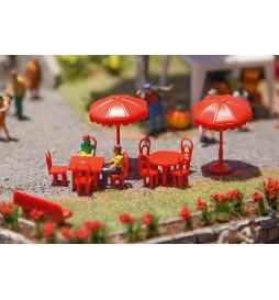 Parasole ogrodowe, stoły, ławki - Faller 180910