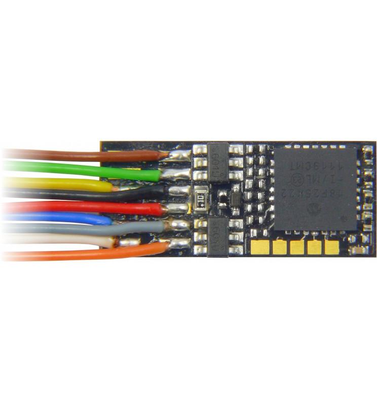 Dekoder jazdy i oświetlenia Zimo MX623 DCC 9-kabli