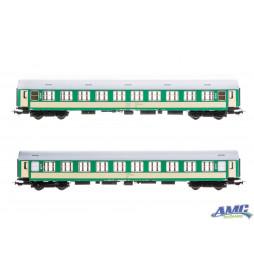 Zestaw 2 wagonów osobowych 2 klasy, typ Bautzen 84, PKP Intercity - Tillig 501537