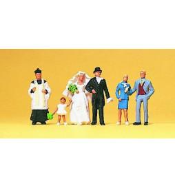 Nowożeńcy, ksiądz katolicki 1/87 - Preiser 10058