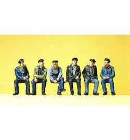 Robotnicy siedzący 1/87 - Preiser 10351
