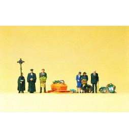 Ceremonia pogrzebowa, katolicy 1/87 - Preiser 10519