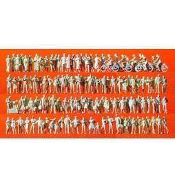 Podróżni i przechodnie, 120 figur 1/87 - Preiser 16337