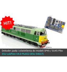 Dekoder jazdy i oświetlenia do SP45 / SU45 Piko - ESU LokPilot V4.0 DCC PluX 22-pin (ESU 54617)