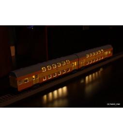 Oświetlenie DCC wagonów piętrowych 2-człony Bhp Rivarossi, - standard
