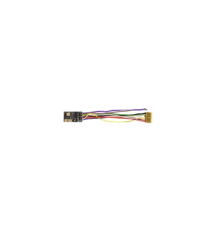 Dekoder jazdy i dźwięku MX648R (1W) DCC NEM652 8-pin z przewodami