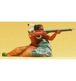 Indianin ze strzelbą 1/25 - Preiser 54617