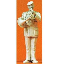 Orkiestra wojskowa: muzyk z waltornią 1/35 - Preiser 64369