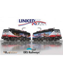 """Trix 22862 - Lokomotywa elektryczna ES64 F4 - 213 """"Linked by rail"""" Poznań - Rotterdam, DCC z dźwiękiem"""