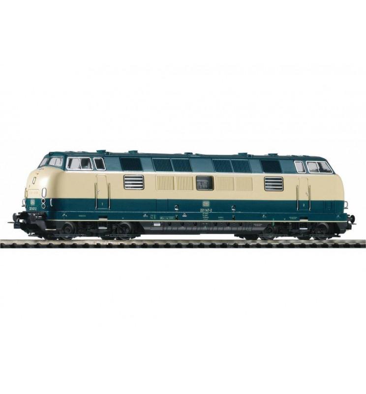 Spalinowóz BR 221 DB IV, niebiesko-beżowy - Piko 52602
