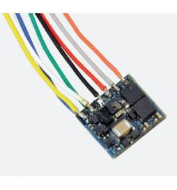Dekoder funkcyjny LokPilot Fx Nano, MM/DCC, 8-pin NEM 652 z przewodami - ESU 53620