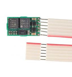 Miniaturowy dekoder funkcyjny DCC/SX1/SX2/MM D&H FH05B-1 NEM651, 6-pin (taśma)