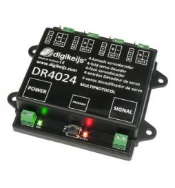 Digikeijs DR4024 - 4-kanałowy dekoder serwonapędów z 4 dodatkowymi wyjściami przełączanymi