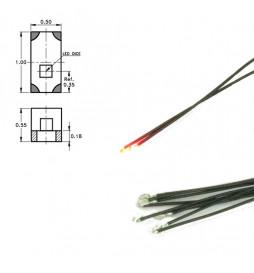 Digikeijs DR60048 - Dioda LED 0402 czerwona z przewodami (5 szt)