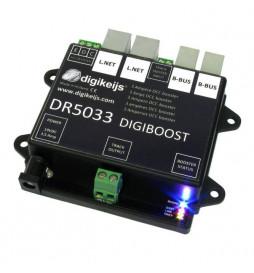 DR5033 - Uniwersalny Booster DCC 3A dla systemów LocoNet, Roco R-Bus, CDE i innych, z zasilaczem