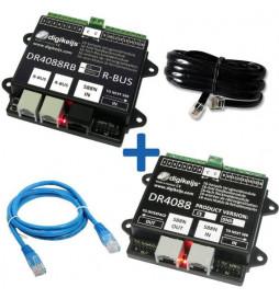 DR4088RB-OPTO_BOX - Kompletny 32-punktowy zestaw informacji zwrotnej dla LocoNet: DR4088RB-OPTO, DR4088OPTO, DR60890 i DR60881
