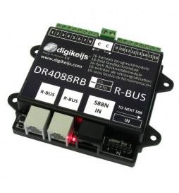 DR4088RB-OPTO - 16-kanałowy moduł informacji zwrotnej s88N z interfejsem Roco R-BUS i detekcją optyczną