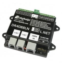 DR4088LN-2R - 16-kanałowy moduł informacji zwrotnej s88N z interfejsem LocoNet i detekcją przepływu prądu