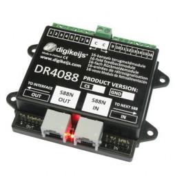 DR4088CS - 16-kanałowy moduł informacji zwrotnej s88N z detekcją przepływu prądu