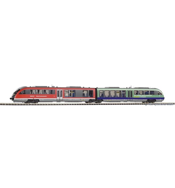 ~Spalinowy Zespół Trakcyjny Desiro 642 DB Regio Westfrankenbahn VI + dekoder, wersja AC - Piko 52287