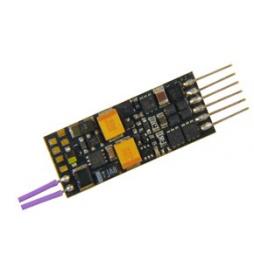 Nowość ! Miniaturowy dekoder jazdy i dźwięku Zimo MX649L (1W) DCC NEM651 6-pin direct kątowy