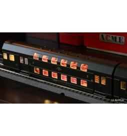 Oświetlenie DCC wagonów piętrowych 4-człony Bipa / Bhp Rivarossi - standard