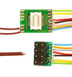 Płytka adapter do dekoderów Next18 NEM652 8-pin z przewodami (Doehler & Haass N18-G-2)
