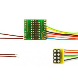 Płytka adapter do dekoderów 21-pin MTC21 / NEM652 8-pin z przewodami (Doehler & Haass M21-2)