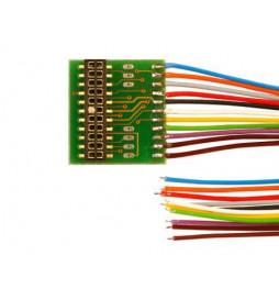 Płytka adapter do dekoderów 22-pin PluX22 z 11 przewodami (Doehler & Haass P22-3)