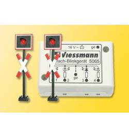 Viessmann 5060 - Krzyże Św. Andrzeja z funkcją migającego światła, H0
