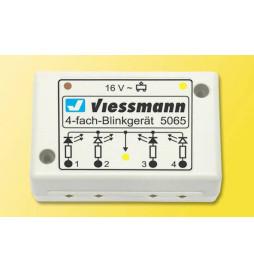 Viessmann 5065 - Poczwórna elektronika do efektu migających świateł (np przejazdowych)