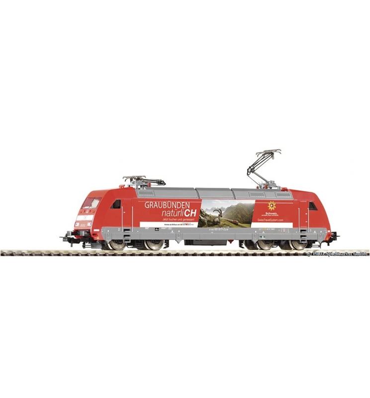 ~Elektrow. BR 101 Swisstravel Graubünden DB AG VI + lastg. Dec. - Piko 59256