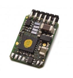 Roco 10886 - Dekoder jazdy i oświetlenia 6-pin z wtykiem bezpośrednim kątowym