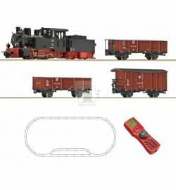 Roco 31031 - Zestaw startowy cyfrowy H0e, pociąg towarowy z lokomotywą HF110C