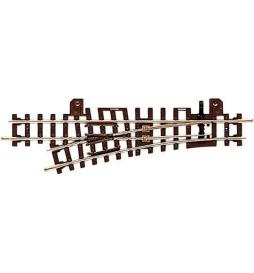 Roco 32409 - Rozjazd H0e 15°, lewy, z metalową krzyżownicą