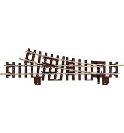 Roco 32411 - Rozjazd H0e 15°, prawy, z metalową krzyżownicą