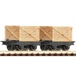 Roco 34603 - Zestaw 2 wagonów platform, H0e