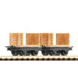Roco 34604 - Zestaw 2 wagonów kopalnianych, H0e