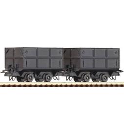 Roco 34605 - Zestaw 2 wagonów węglarek, H0e
