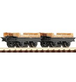 Roco 34607 - Zestaw 2 wagonów towarowych, H0e