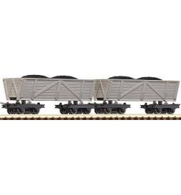 Roco 34610 - Zestaw 2 wagonów koleb kolei polowej, H0e