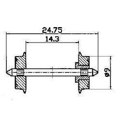 Roco 40194 - Zestawy kołowe dwustronnie izolowane, 9mm, 2szt