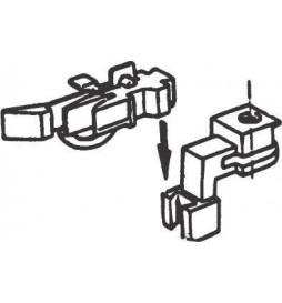 """Roco 40281 - Głowica sprzęgu krótkiego typu """"śledź"""" do gniazd uniwersalnych Fleischmann, 2szt"""