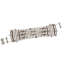 Roco 42451 - Rozjazd angielski 15°, DKW15, H0, RocoLine
