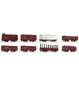 Roco 44006 - Zestaw 8 wagonów towarowych ÖBB